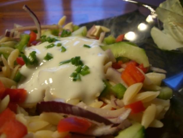 Salat : Griechischer Nudelsalat - Rezept - Bild Nr. 2