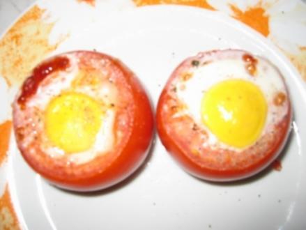 Eier in Tomaten - Rezept