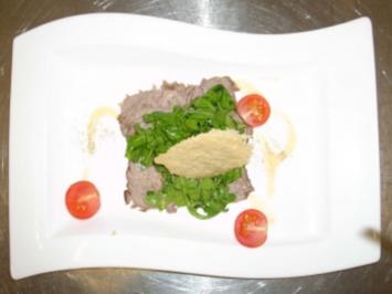 Roastbeef an Ingwersoße und Parmesan-Chips - Rezept