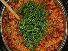 Scharfes Tomaten-Bulgur - Rezept