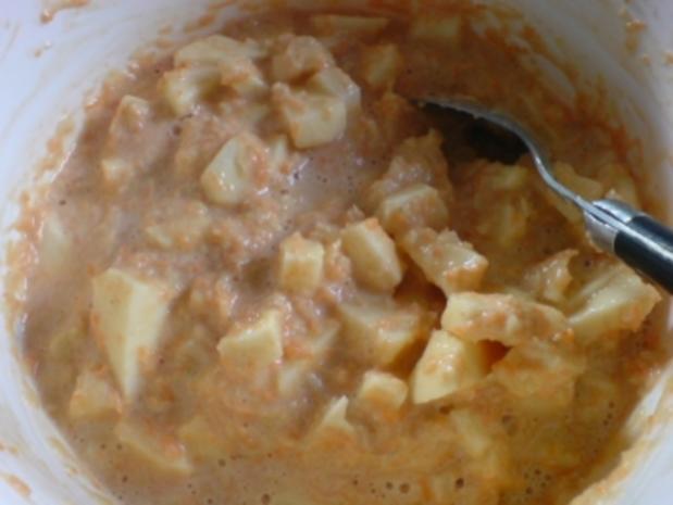 Zucchini-Mohrrüben-Apfel-Kuchen - fettfrei ! - Rezept - Bild Nr. 6