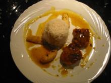 Schweinefiletmédaillons mit Honig an Currysauce - Rezept