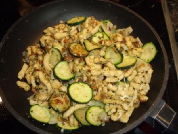 Spätzle-Zucchini-Pfanne - Rezept