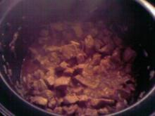 Putengulasch mit Schwips - Rezept