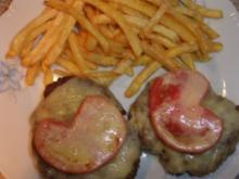 Hackfleischschniitzel mit Käse überbacken - Rezept