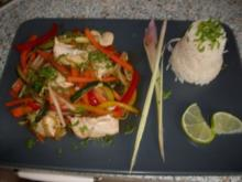 Chop-Suey mit Limettenreis - Rezept