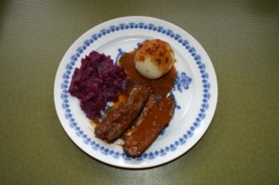 Wildschweinrippchen mariniert - Rezept