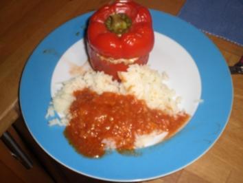 Gefüllter Paprika mit Reis - Rezept