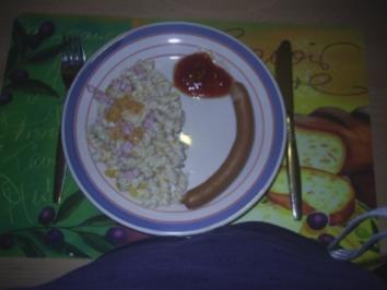 Rezept: Salat - fruchtiger Nudelsalat