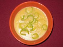 Kartoffelrahmsüppchen mit Lauch und frischem Meerrettich - Rezept