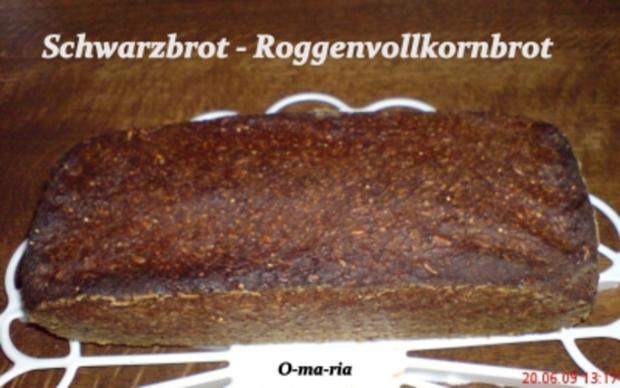 Brot ~ Schwarzbrot  ~  Vollkornbrot - Rezept - Bild Nr. 4