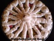 Kuchen  Rhabarberkuchen mit Baiser - Rezept