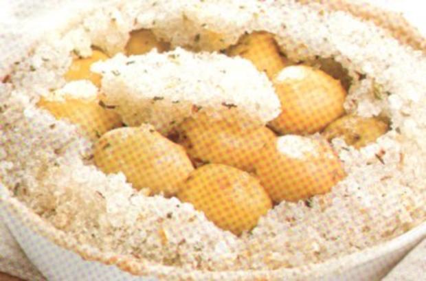 antipasti kartoffeln im salzmantel - Rezept