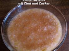 Sueßspeisen  Rhabarberreis - Rezept