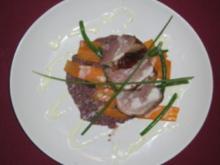 Ente auf Portweinrisotto und knackigem Gemüse - Rezept