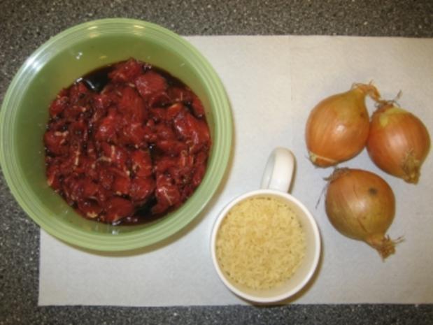 Rindfleisch mit Zwiebeln chinesisch - Rezept - Bild Nr. 2