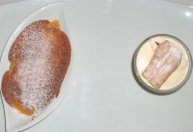 Gratinierte Mandarinen an Amaretto-Mandelparfait - Rezept
