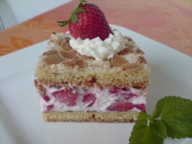 Hanchen-Jansen Kuchen mit Stachelbeeren oder frischen Erdbeeren - Rezept