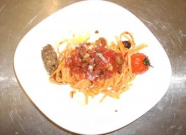 Linguine alla puttanesca - Rezept
