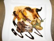 Marinierte Lammkoteletts auf Ratatouille an jungen Kräuterkartoffeln - Rezept