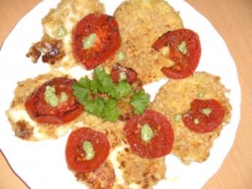 "Gebackener Mozzarella oder ""Tomate-Mozzarella mal anders"" - Rezept"