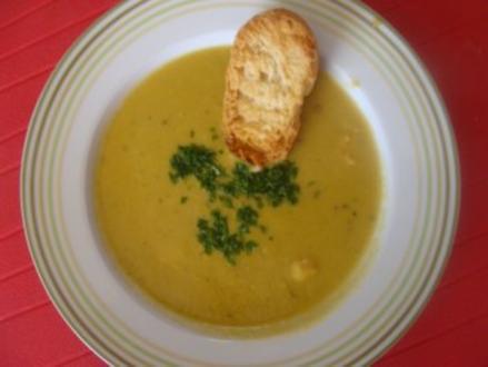 Suppe : -Meine Avocadosuppe mit Gambas - Rezept