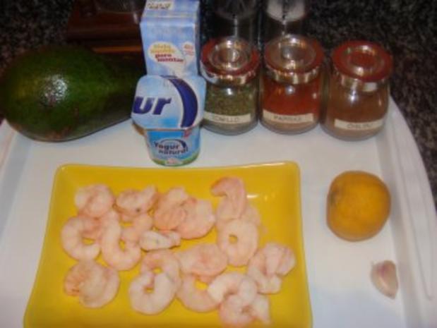 Suppe : -Meine Avocadosuppe mit Gambas - Rezept - Bild Nr. 3