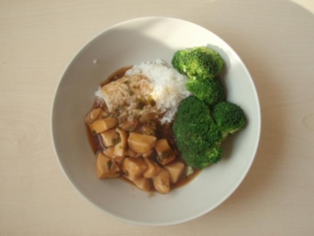 Huhn mit Teriyaki und Broccoli - Rezept