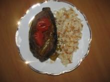 Gefüllte Auberginen im Backofen  (Karniyarik) - Rezept