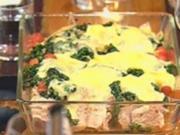 Kalbskoteletts mit Spinat und Fontina - Rezept