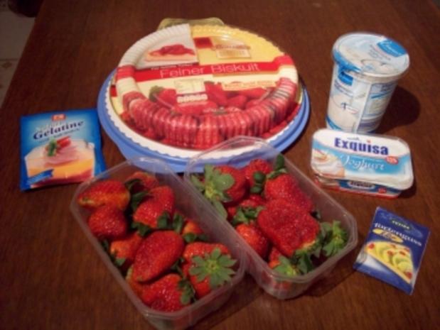 Erdbeer-Mosaik-Tortenboden - Rezept - Bild Nr. 2