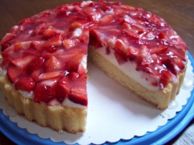Erdbeer-Mosaik-Tortenboden - Rezept - Bild Nr. 6