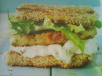 Sesamtoast-Shrimps-Burger - Rezept