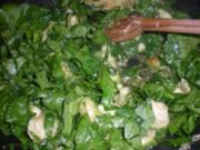 Huhn in Spinat-Zitronensauce - Rezept