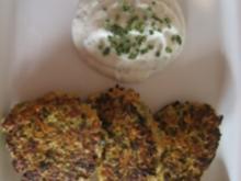 Gemüsefrikadellen mit Kräuterquark - Rezept