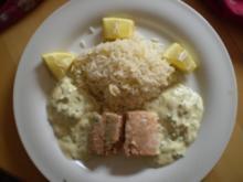 Gegrillter Lachs an Joghurt-Senf-Dip - Rezept