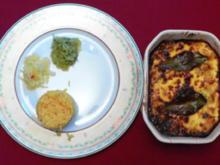 Fischbobotie mit gelbem Reis, selbst gemachten Sambals und Chutney - Rezept