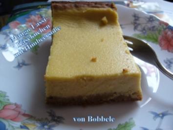 Kuchen: Mango-Lassi-Käsekuchen mit Himbeersauce - Rezept