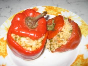 Rezept: Gefüllte Tomaten und Paprika