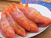 Rotbarben mit gebratenen weißen Bohnen - Rezept