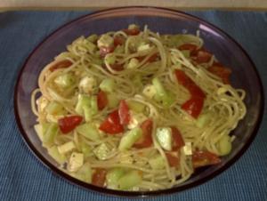 Spaghetti-Salat - Rezept