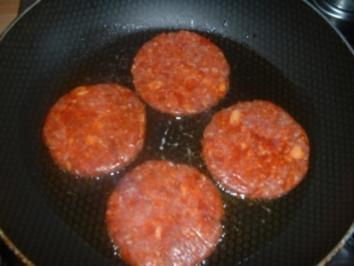 Hamburger mit Reis - Rezept