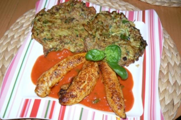 scharfe Zucchini-Kartoffelpuffer treffen auf..... - Rezept - Bild Nr. 10
