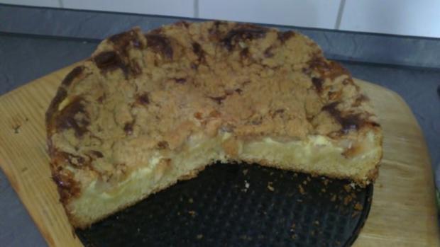 Apfel-Streuselkuchen mit Pudding Füllung - Rezept - Bild Nr. 2