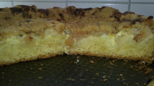 Apfel-Streuselkuchen mit Pudding Füllung - Rezept - Bild Nr. 3
