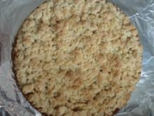 Apfel-Streuselkuchen mit Pudding Füllung - Rezept