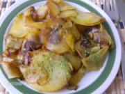 Bratkartoffeln aus rohen Kartoffeln - Rezept