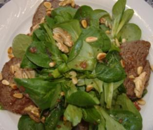 Ochsenfetzen mit Feldsalat - Rezept