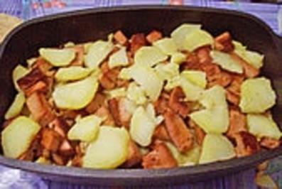Leberkäse - Kartoffel - Auflauf - Rezept