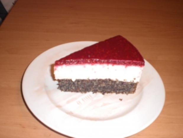 Mohn Topfen Torte Mit Himbeerspiegel Rezept Kochbar De